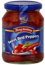 red peppers sweet Hengstenberg Nutrition info