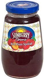 red plum spread Sunberry Farms Nutrition info