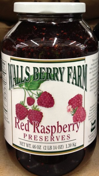 red raspberry preserves Walls Berry Farm Nutrition info