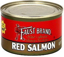 red salmon wild alaska fancy sockeye Faust Nutrition info