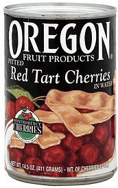 red tart cherries pitted in water Oregon Fruit Products Nutrition info