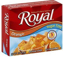 reduced calorie gelatin orange Royal Nutrition info