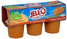 reduced calorie pudding snacks sugar free, creamy caramel Jell-o Nutrition info