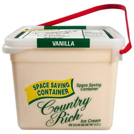 reduced fat vanilla ice cream Country Rich Nutrition info