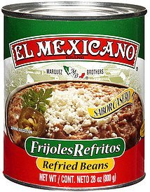 refried beans beans El Mexicano Nutrition info