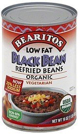 refried beans black bean Bearitos Nutrition info