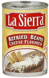 refried beans cheese flavored LaSierra Nutrition info