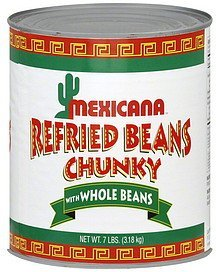 refried beans chunky Mexicana Nutrition info