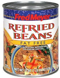 refried beans fat free Fred Meyer Nutrition info