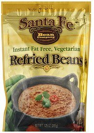 refried beans instant fat free, vegetarian Santa Fe Bean Company Nutrition info