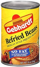 refried beans mexican style Gebhardt Nutrition info