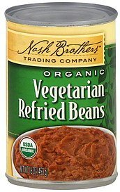 refried beans organic, vegetarian Nash Brothers Trading Company Nutrition info