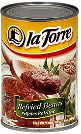 refried beans traditional La Torre Nutrition info