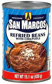 refried beans with chipotle Empacadora San Marcos Nutrition info