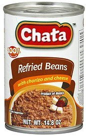refried beans with chorizo and cheese Chata Nutrition info