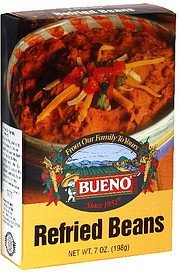 refried beans Bueno Nutrition info