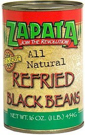 refried black beans refried black beans Zapata Nutrition info