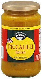 relish piccalilli Norfolk Manor Nutrition info