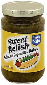 relish sweet Better valu Nutrition info