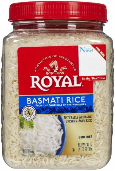 rice basmati Royal Nutrition info