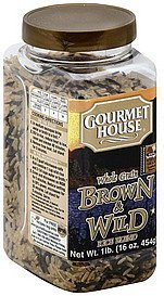 rice blend whole grain, brown & wild Gourmet House Nutrition info
