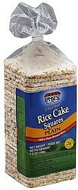 rice cake squares ultra-thin, plain Paskesz Nutrition info