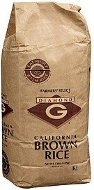 rice california brown Diamond G Nutrition info