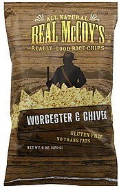 rice chips worcester & chives Real McCoys Nutrition info