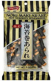 rice crackers with seaweed Shirakiku Nutrition info