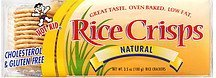 rice crisps natural Hot Kid Nutrition info