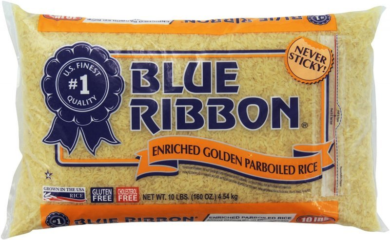rice enriched golden parboiled Blue Ribbon Nutrition info