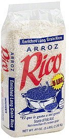 rice enriched, long grain Rico Nutrition info
