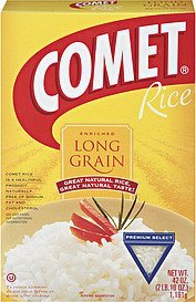 rice long grain enriched premium select Comet Nutrition info