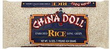 rice long grain China Doll Nutrition info