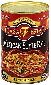 rice mexican style, mild Casa Fiesta Nutrition info
