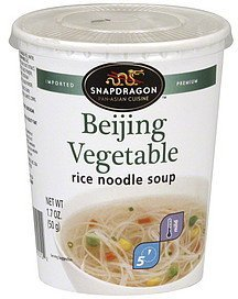 rice noodle soup beijing vegetable, mild Snapdragon Nutrition info