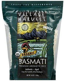 rice organic basmati premium aromatic Village Harvest Nutrition info