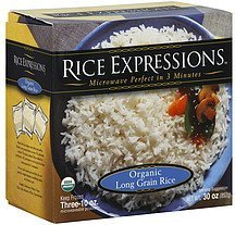 rice organic long grain Rice Expressions Nutrition info