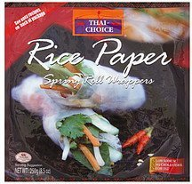 rice paper spring roll wrappers Thai Choice Nutrition info