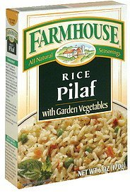 rice pilaf, with garden vegetables Farmhouse Nutrition info