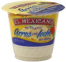 rice pudding El Mexicano Nutrition info