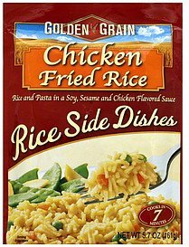 rice side dishes chicken fried rice Golden Grain Nutrition info