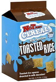 rice squares toasted, milk chocolate Not Just Cereal Nutrition info