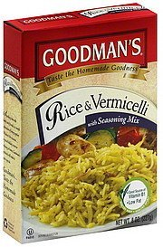 rice & vermicelli with seasoning mix Goodmans Nutrition info