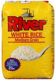 rice white, medium grain River Nutrition info