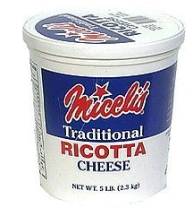 ricotta cheese traditional Miceli's Nutrition info