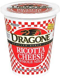 ricotta cheese whole milk Dragone Nutrition info