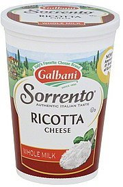 ricotta cheese whole milk Galbani Nutrition info