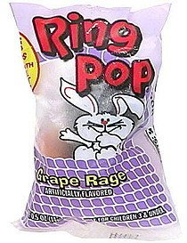 ring pop candy Topps Nutrition info