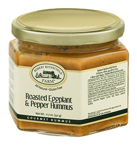 roasted eggplant pepper hummus Robert Rothschild Farm Nutrition info